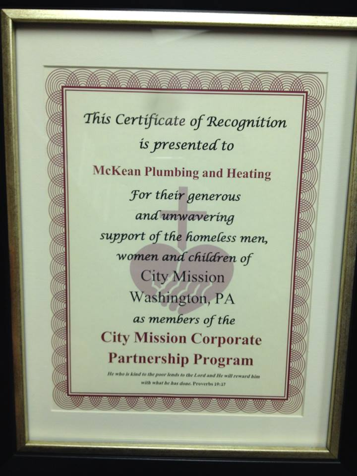 City Mission Mckean Plumbing And Heating